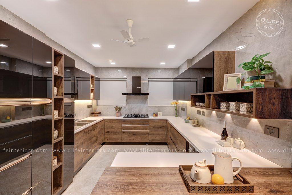 modular kitchen Indian producer shebin backar home in kochi
